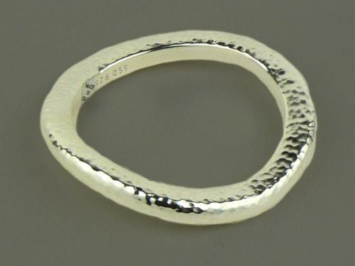 Simon Sebbag Hammered Medium Sterling Silver 925 Bracelet SS B1280 - ILoveThatGift