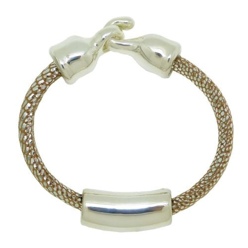Simon Sebbag Sterling Silver 925 Bead Bracelet Sueded Pearl Leather - ILoveThatGift