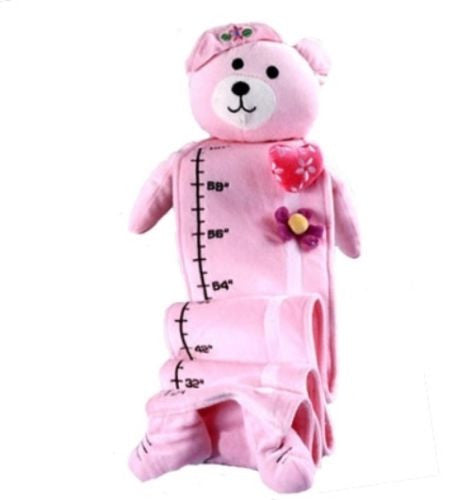 Silly Phillie Fabric Growth Chart Children Nursery Baby Pink Bear Room Girl - ILoveThatGift