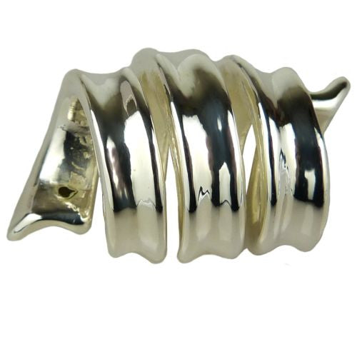Simon Sebbag Ribbon Swirl Sterling Silver Slide Bead 270 for Leather Necklace - ILoveThatGift