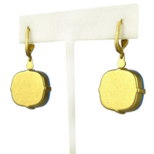La Vie Parisienne Gold Ultra Blue Earrings 6544G Catherine Popesco - ILoveThatGift