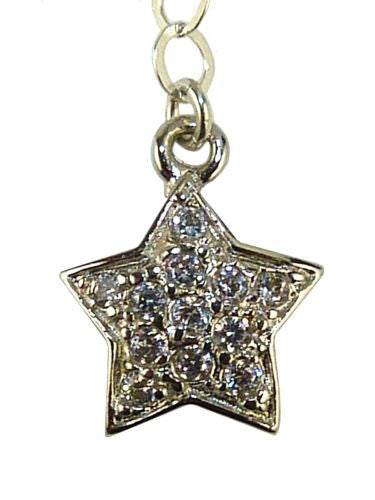 Glittering Rhodium Plated Pave Crystal Star Necklace by Athena Designs - ILoveThatGift