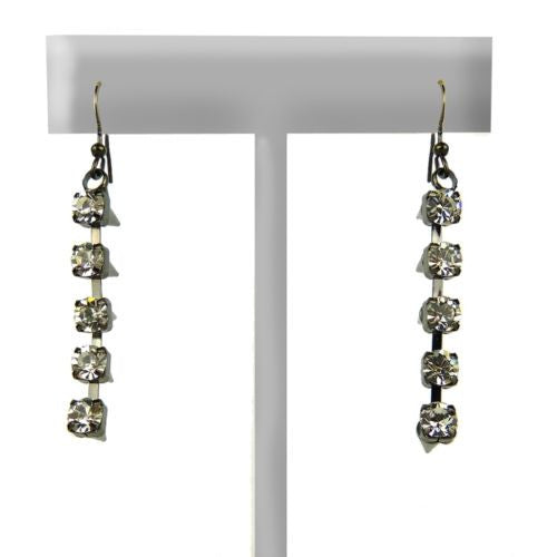 Clear Crystal Spike Hematite Earrings  by Funky Junque - ILoveThatGift