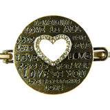 Love Heart Bangle Bracelet in Gold with Rhinestones by Liza Kim - ILoveThatGift