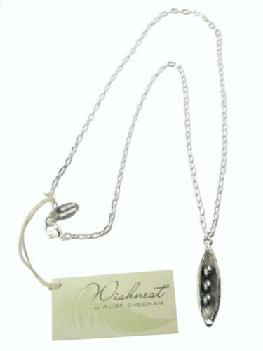 Wishnest Little Seapod Necklace with 3 Gray Pearls by Alise Sheehan - ILoveThatGift