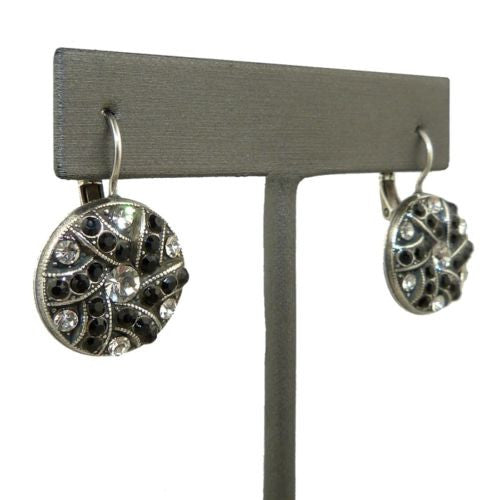 Mariana Handmade Swarovski Crystal Earrings 1059 280-1 Clear Crystal Black - ILoveThatGift