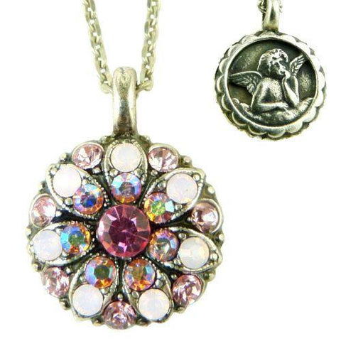 Mariana Guardian Angel Crystal Pendant Necklace 2230 Fuschia Opal Crystal - ILoveThatGift