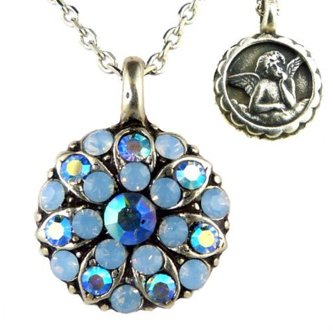 Mariana Guardian Angel Crystal Pendant Necklace 1343 Crystal Meridian Blue Opal - ILoveThatGift