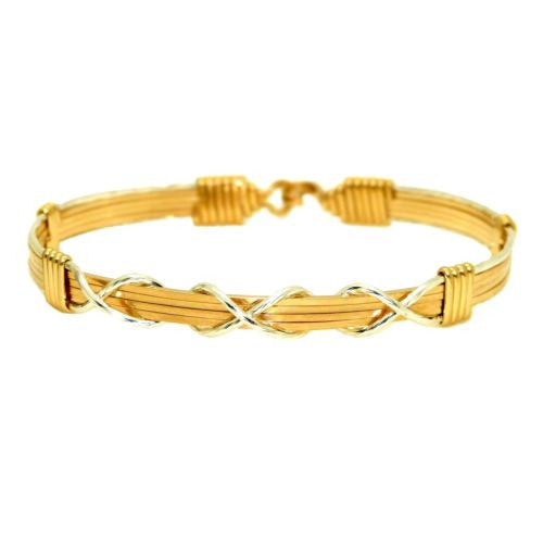 Ronaldo I Love You Forever 321 Bracelet 14K Gold Artist & Silver Mirror Wire - ILoveThatGift