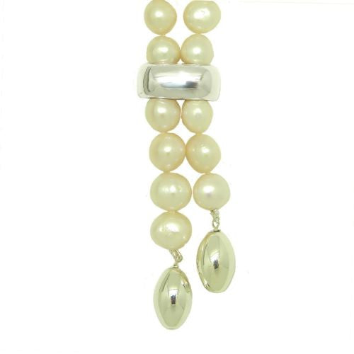Simon Sebbag Short White Pearl Necklace Sterling Silver 925 Drops NB722P - ILoveThatGift