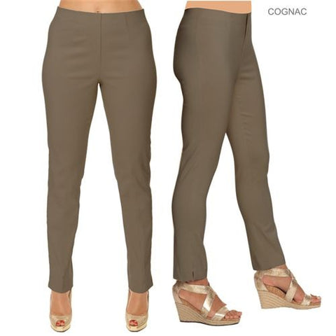 Lior Paris Cognac Tapered Leg Stretch Pull On Sasha Pants Size 2-16