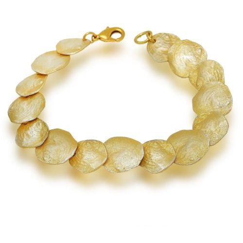 Petite La Mer 24 kt Gold Contour Sea Shell Bracelet by Michael Michaud - ILoveThatGift