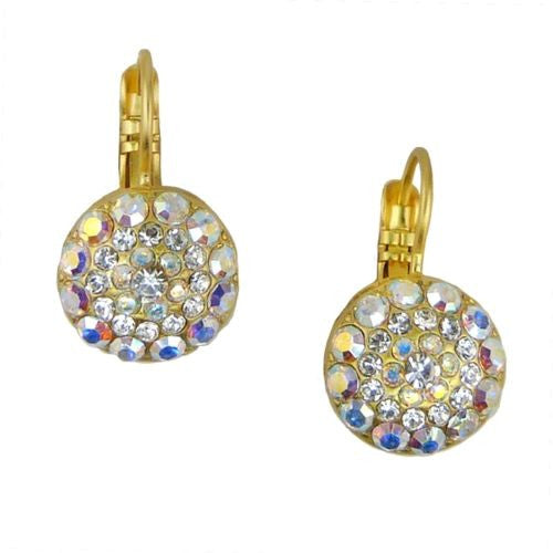 Mariana Handmade Swarovski Crystal Earrings 1141 001AB Clear Rainbow Gold - ILoveThatGift