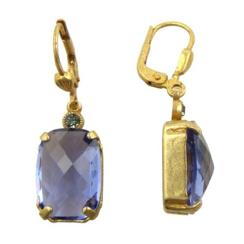 La Vie Parisienne Earrings Swarovski Crystal Dangle Popesco 6560G Tanzanite Purp - ILoveThatGift