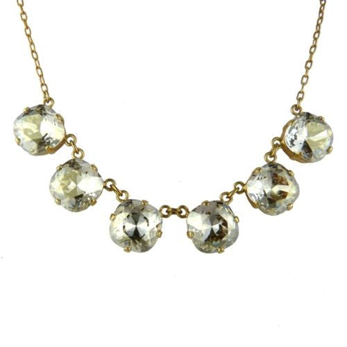 La Vie Parisienne Gold Shade Crystal Faceted Necklace 1257G Popesco - ILoveThatGift