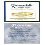 Ronaldo Power of Prayer 18W Wide Bracelet 14K Gold w Gold Wraps 7 Silver Beads - ILoveThatGift