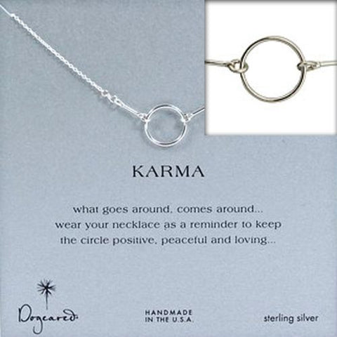 Dogeared Original Sterling Silver Karma Necklace 16""