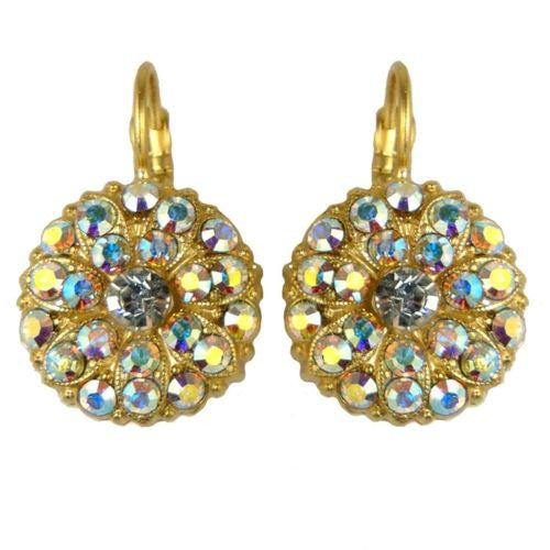Mariana Handmade Swarovski Crystal Earrings Gold 1029 001AB Clear - ILoveThatGift