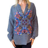 Tolani Heidi Blouse Tunic  Silk Fashion Apparel S M L - ILoveThatGift