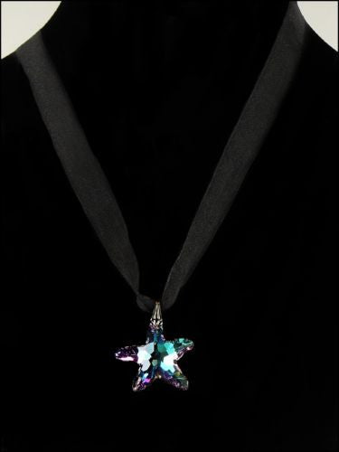 Kristine Palm Beach Swarovski Blue Crystal AB Star Necklace - ILoveThatGift
