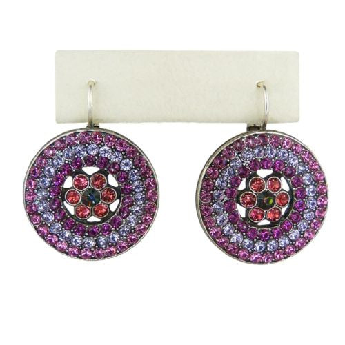Mariana Handmade Swarovski Crystal Earrings Roundel Design 1078/1 1027 Fuchsia Hyacinth - ILoveThatGift