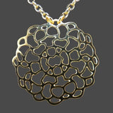 Solar Wind Woman's Gold Plated Silhouette Large Round Lace Pendant Necklace Grad - ILoveThatGift