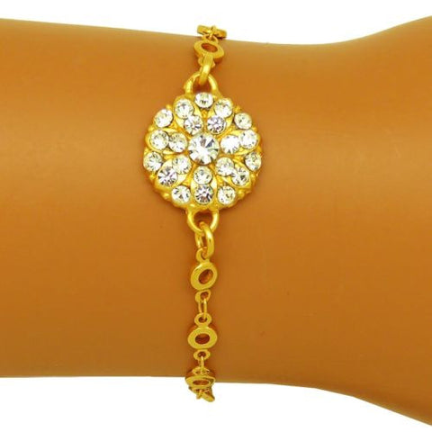 Mariana Swarovski Crystal Guardian Angel Charm Gold Bracelet 4212/2 001001 Clear - ILoveThatGift