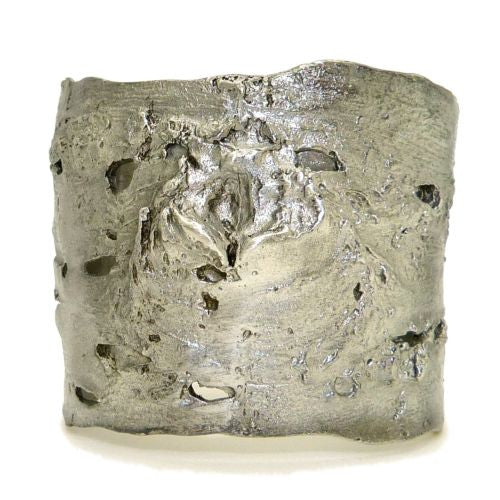 Michael Michaud Antique Pewter Birch Bark Napkin Rings for 8 - ILoveThatGift