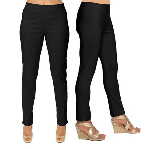 Lior Paris Black Tapered Leg Stretch Pull On Sasha Pants Size 2-16