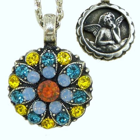 Mariana Guardian Angel Crystal Pendant Necklace 3311 Citrine Indicolate Topaz Ch - ILoveThatGift