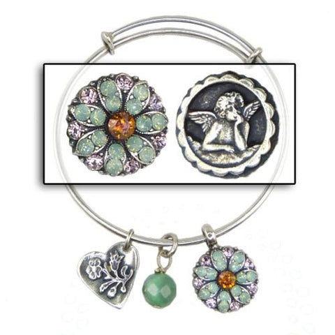 Mariana Guardian Angel Crystal Charm Bangle Bracelet 115 Pacific Opal Volcano - ILoveThatGift