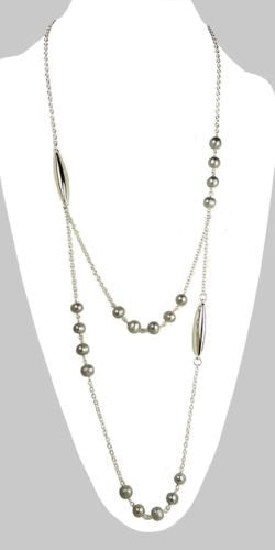 Simon Sebbag Sterling Silver Gray Pearl Long Bead Necklace - ILoveThatGift