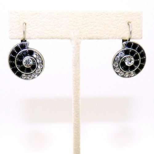 Mariana Handmade Swarovski Crystal Earrings 1079 280-1 Black Clear Shell - ILoveThatGift