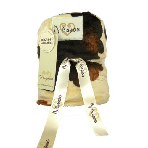 My Blankee Toddler Car Seat Cover Brown Cow - ILoveThatGift