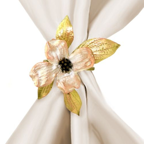 Michael Michaud Dogwood Flower Napkin Rings Set for 4 from Silver Seasons - ILoveThatGift