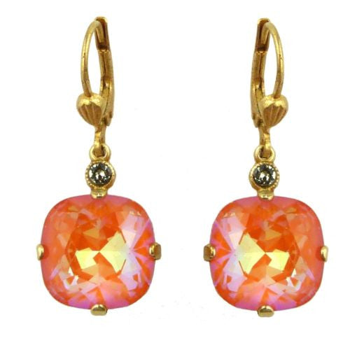 La Vie Parisienne Earrings Swarovski Crystal Popesco 6556G Tangerine - ILoveThatGift