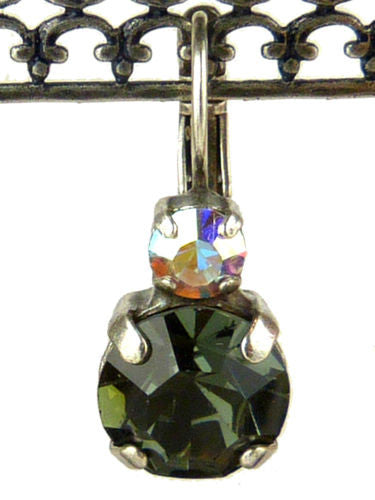 Mariana Handmade Swarovski Crystal Large Round Earrings 1037 3701 Rainbow AB Gra - ILoveThatGift
