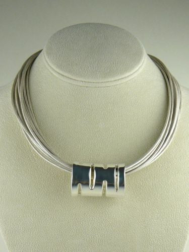 Simon Sebbag Sterling Silver Slide Bead 208 for Leather Necklace - ILoveThatGift