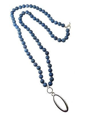 Convertible Long Dumortierite Blue Silver Simon Sebbag Necklace Oval Pendant - ILoveThatGift