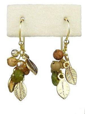 Ruthie Peridot Jasper Gemstone Earrings Elly Preston - ILoveThatGift