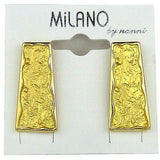 Nanni 18 K Gold Plated Rectangular Bar Earrings Texture Collection - ILoveThatGift
