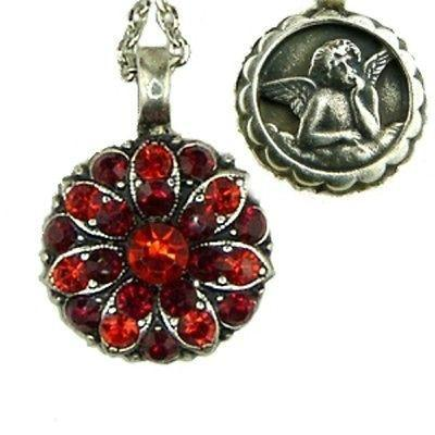 Mariana Guardian Angel Swarovski Crystal Pendant Necklace 227208 Siam Red - ILoveThatGift