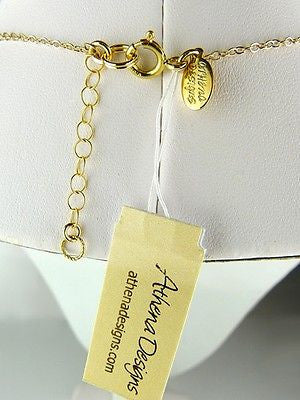 Abstract Oval Gold Fill Necklace by Athena Designs - ILoveThatGift