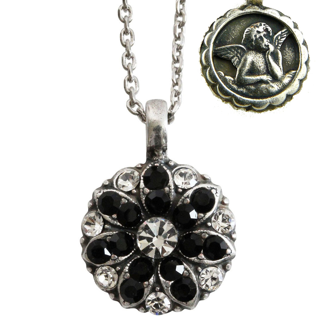 Mariana Guardian Angel Crystal Pendant Necklace 280-1 Clear Black - ILoveThatGift
