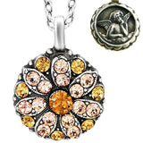 Mariana Guardian Angel Crystal Pendant Necklace 3192 Topaz Pink - ILoveThatGift