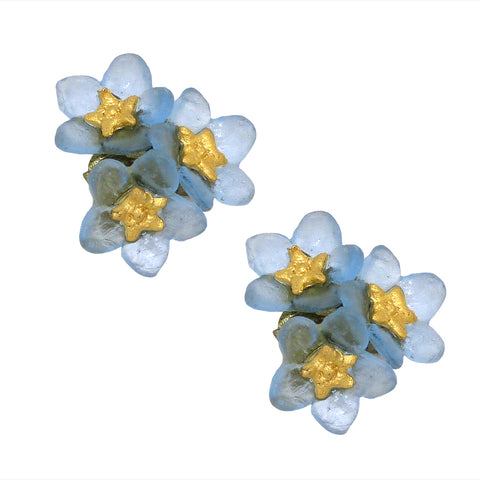 Forget Me Not Flower Post Earrings by Michael Michaud Nature Silver Seasons 3272 - ILoveThatGift