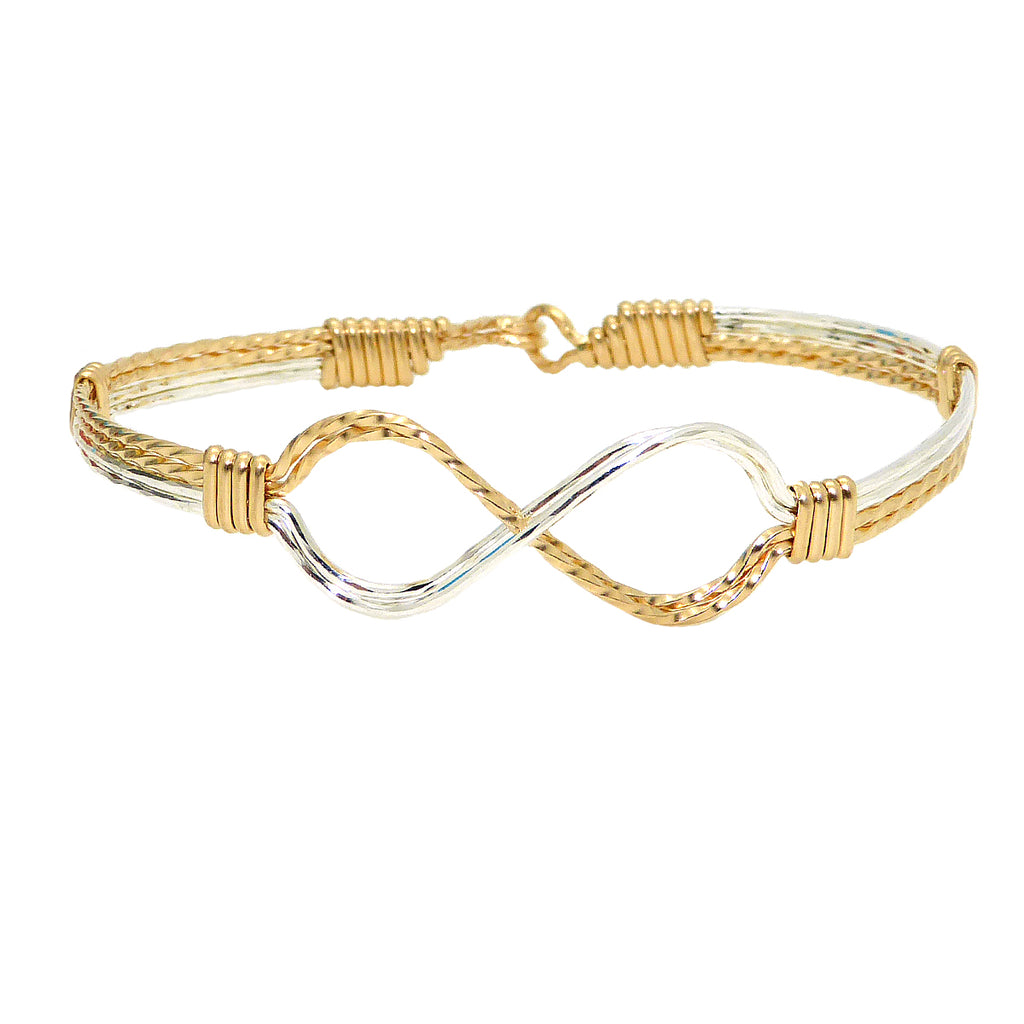 Ronaldo Infinity 338 Bracelet 14K Gold Artist Wire and Silver