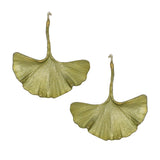 Ginkgo Large Leaf Green Earrings by Michael Michaud Nature Silver Seasons 4803 - ILoveThatGift