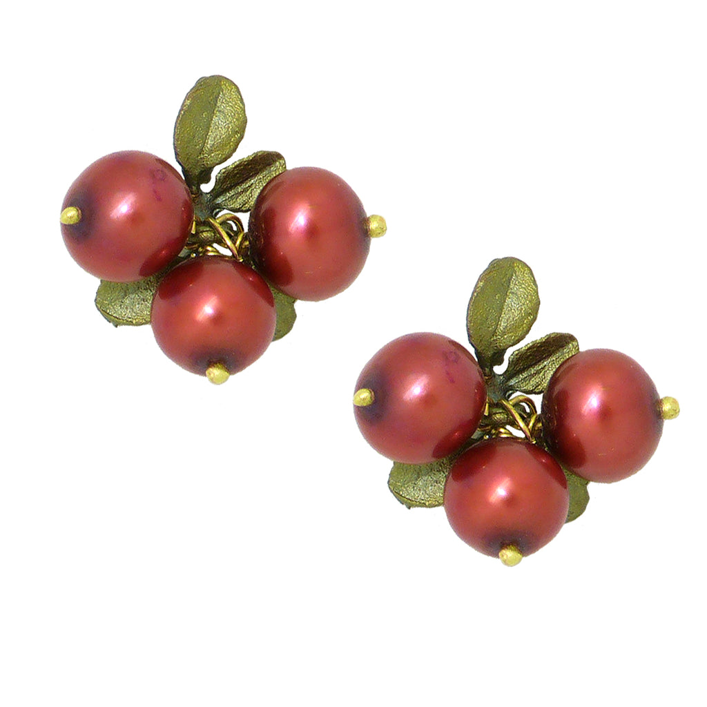 Cranberry Earrings  by Michael Michaud Nature Silver Seasons  4410 - ILoveThatGift