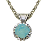 Dorata Handmade Swarovski Bail Pendant Necklace wear with Mariana Pacific Opal